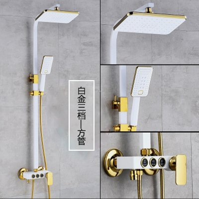 Gyps Faucet Basin Mixer Tap Waterfall Faucet Bathroom Mixer Mixer Shower Tap Shower black shower kit full copper bathroom booster bath large sprinklers black heated antique faucets platinum third-part