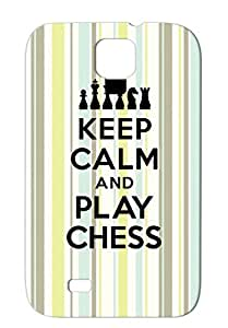 Queen Tower Pawn King Mat Miscellaneous Foul Sports Check Chess Cavalier TPU For Sumsang Galaxy S4 Black Keep Calm And Play Protective Case