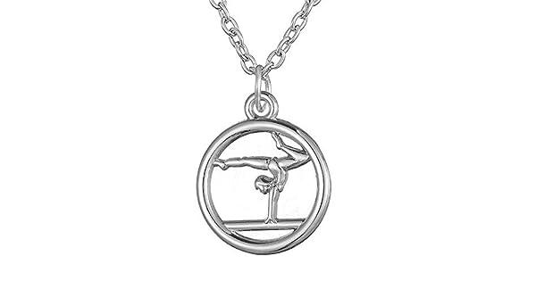 Gymnastics Pendant Trendy Necklace for Girls: Amazon com