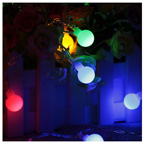 - MINGXUAN Globe LED String Lights Low Energy 2 AA Battery Operated 3.28ft 10 Bulbs Multicolour Elegant Rope Light with CE EMC Certificate
