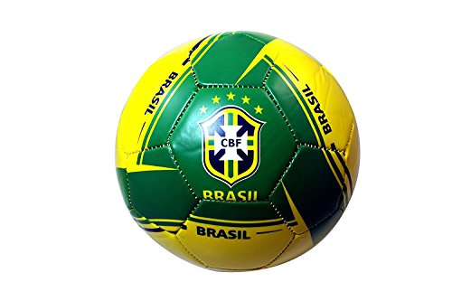 RHINOXGROUP Brazil Authentic Official Licensed Soccer Ball (5, Brazil 4)