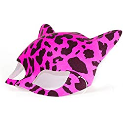 Fun Central AT821 Leopard Print Neon Cat Masks - Assorted 12ct