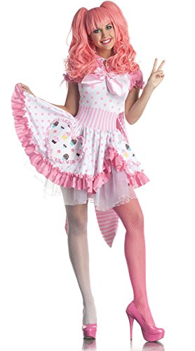 Party King Sexy Harajuku Pink Cupcake Girl Dress Halloween Costume (Harajuku Costumes)