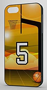 Basketball Sports Fan Player Number 5 Black Rubber Decorative iPhone 5c Case