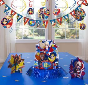 DC Superhero Girls Decoration Kit (36 Piece) Super Hero Birthday Party Supplies -