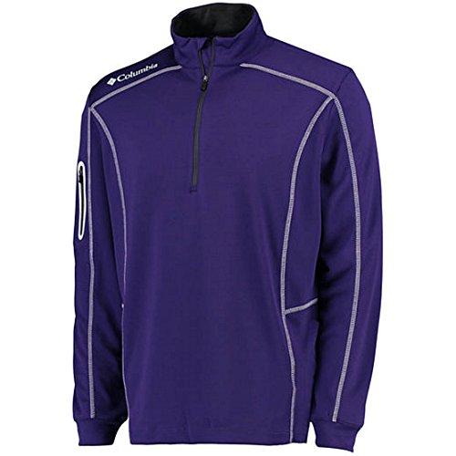 Columbia Golf Omni-Wick Shotgun 1/4 Zip Long Sleeve Pullover(UW Purple/White) (4XL)