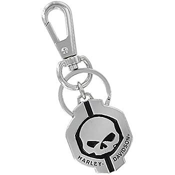 Amazon.com: Harley-Davidson Willie G Skull Hubcap Keychain ...