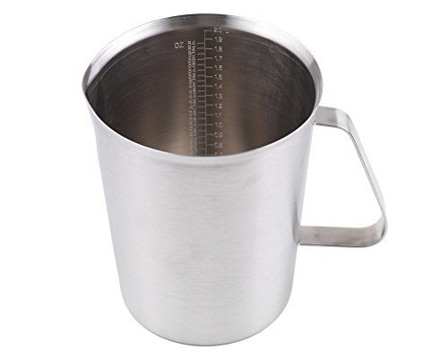 2000ml Stainless Steel Coffee Milk Pitcher Frothing Cup - SILVER - 4
