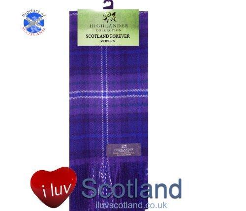Scotland Forever Tartan Lambswool Scarf