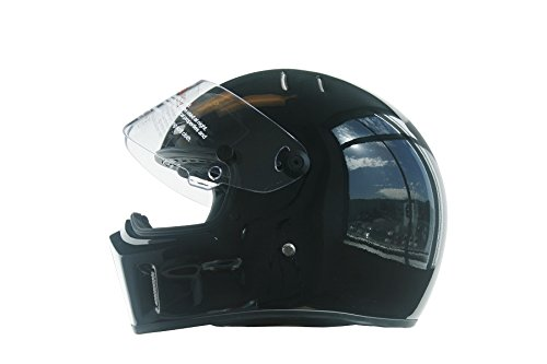 CRG Sports ATV Motocross Motorcycle Scooter Full-Face Fiberglass Helmet DOT Certified ATV-1 Glossy Black Size Large by CRG Sports (Image #4)