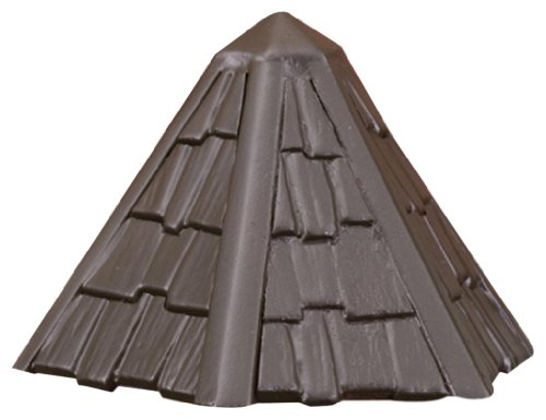 Kichler 15461AZT Thatched Roof 12-Volt Deck and Patio Light, Textured Architectural (Architectural Bronze Landscape 12v Deck)