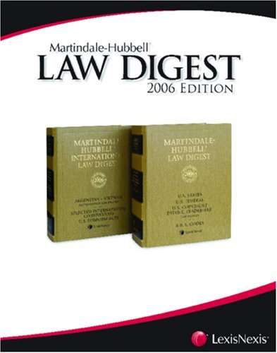 Martindale-Hubbell Law Digest: Texas [Paperback] [2006] (Author) Sanders & Dempsey L.L.P., of Houston. Revision by Squire