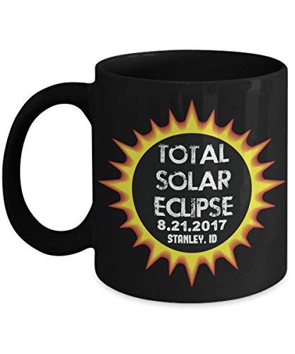 Total Solar Eclipse 2017 Stanley, Idaho Commemorative Astronomy Coffee Mug by Plaid Panda Creations