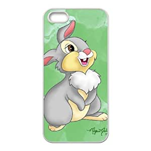Disney Bambi Character Thumper Iphone 5 5S Cell Phone Case White 218y-055005