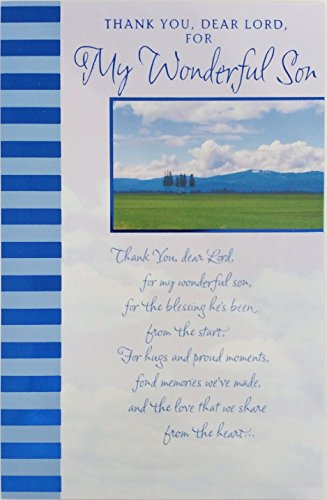 Thank You Dear Lord for My Wonderful Son - Happy Birthday Religious Greeting Card