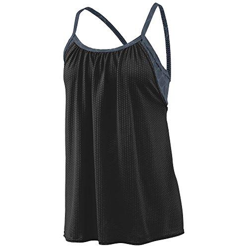 Augusta Sportswear Womens Sadie Tank 2XL Black/Graphite Plexus Print