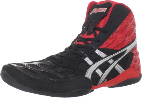 ASICS Men's Split Second 9 Wrestling Shoe,Red/Silver/Black,11.5 M US
