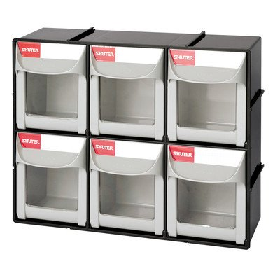 Shuter 1010018 Bins Flip Outs 6 Compartment (Storage Bin Tip Out)