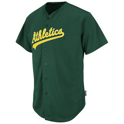 Oakland Athletics Replica Jerseys (Oakland Athletics Full-Button BLANK BACK Major League Baseball Cool-Base Replica MLB Jersey)