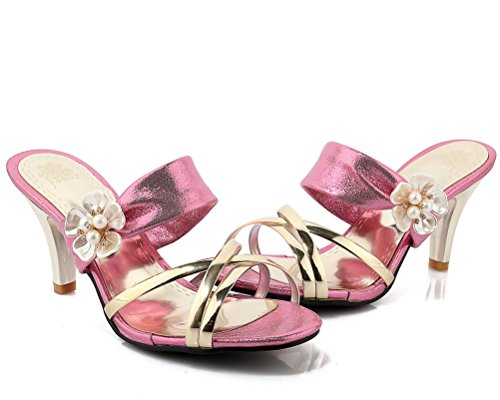 HiTime Mules Rose Femme Rose Mules HiTime HiTime Femme Mules Rose Femme qRwCgYn