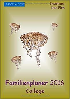 Book BROCKHAUSEN - Familienplaner 2016 - College: Insekten - Der Floh: Volume 20