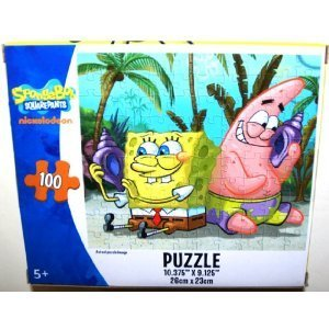 amazon スポンジ ボブ100ピースジグソーパズル spongebob and