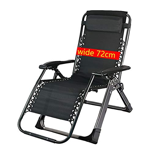 Folding Home Backrest Reclining Nap Chair, Portable Zero Gravity Leisure Chair for Pregnant/Elderly, Beach/Balcony/Office