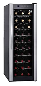 IGLOO FRW312 30-Bottle Wine Cooler with Digital Controls, Silver