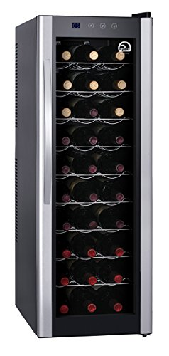 IGLOO FRW312 30-Bottle Wine Collar with Digital Controls, Silver by Igloo