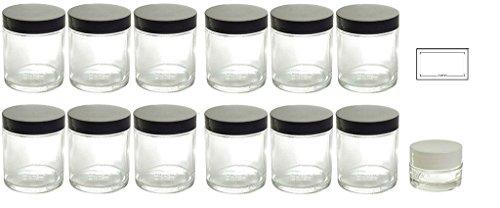 glass 4oz jars - 8
