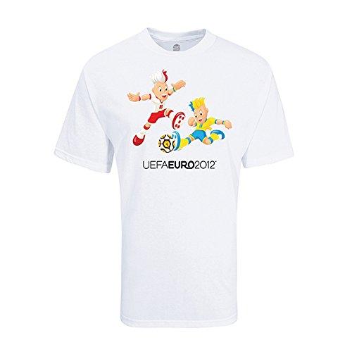Adidas T-shirt Mascot Large (Adidas T-SHIRT EURO 2012 YOUTH MASCOT (S))