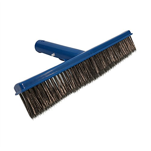 Puri Tech Economy 10 Inches Algae Pool and Spa Brush with Stainless Steel Bristles ()