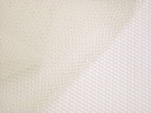 (Superfine English Net - Ivory Netting Fabric )