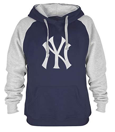 (iz Mens Athletic Baseball Yankees Pullover Hoodie (M) Navy)