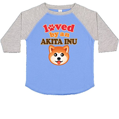inktastic - Akita Inu Dog Lover Toddler T-Shirt 4T Blue and Heather 2f3cd - Akita Inu Dog