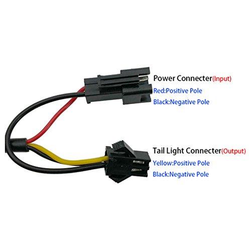 ZOOMPOWER 6v - 80v 12v 24v 36v 48v 60v 72v universal e-bike headlight taillight set front light headlamp rear light taillamp bafang 3w by ZOOMPOWER (Image #7)