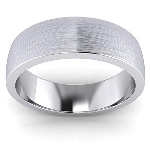 67c0217bcf4f Barato Plata de Ley Unisex 6 mm súper pesado corte forma cepillado mate  anillos ...