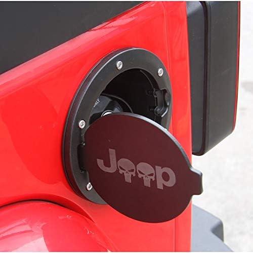 YEXIANG Haute qualit/é couvercles de r/éservoir de Carburant for Le Jeep Wrangler JK 2007-2017 Voiture Carburant gaz en Alliage Cap Noir 1941 Araign/ée venimeuse Drapeau Face Avant Color : 1941