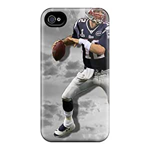 Anti-Scratch Hard Phone Cover For iphone 4s With Custom High Resolution New England Patriots Skin SherriFakhry