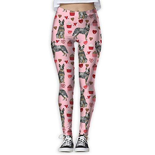 CLXS Australian Cattle Dog Valentines Day Cupcakes hearts Love Yoga Pants Quick Dry Joggers - Toronto Store Australian