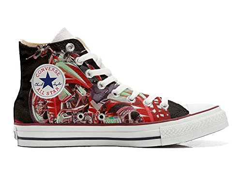 Converse All Star personalisierte Schuhe - HANDMADE SHOES - Motorrad