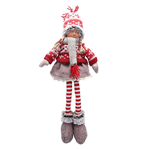 Handmade Christmas Gift - Handmade Christmas Gnome Decoration Girl and Boy Holiday Gifts Santa Tomte Swedish Figurines - 19 Inches (Girl)