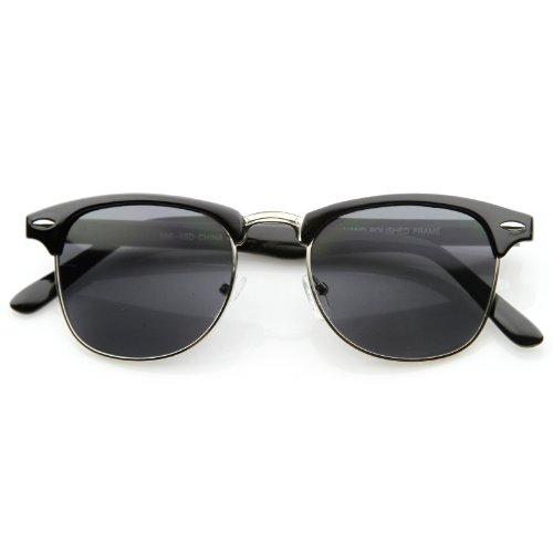 SWG EYEWEAR® Polarized Classic Soho Half Frame Semi-Rimless Horn Rimmed - Eyewear Frames Soho