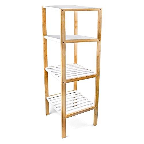 Relaxdays 10017161 estanter a de bamb 4 niveles para for Estanterias de bambu para bano