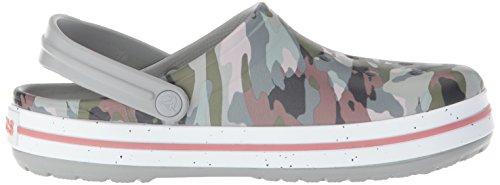 Clogs Camo Unisex Grey Graphic Crocband crocs Mehrfarbig Light Iii Erwachsene 7wF1qx0xSX