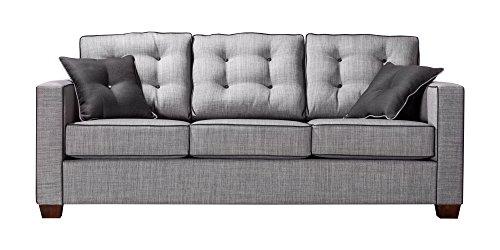 HOMES: Inside + Out ioHOMES Tianna Modern Sofa, Gray