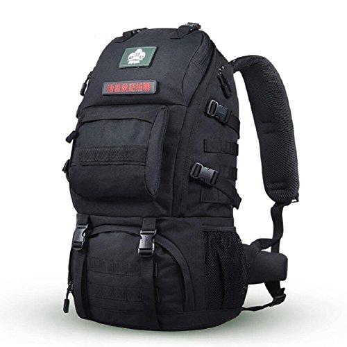 LJ&L High-end al aire libre mochila alpinismo, multi-propósito de excursiones mochila camping impermeable, ajustable, los hombres y las mujeres en general la mochila de moda,A,36-55L C