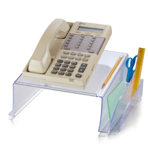 Officemate Telephone Stand, Clear