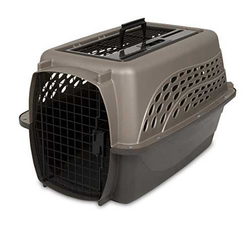 Cheap Petmate Two Door Top Load 24-Inch Pet Kennel, Metallic Pearl Tan and Coffee Ground Bottom