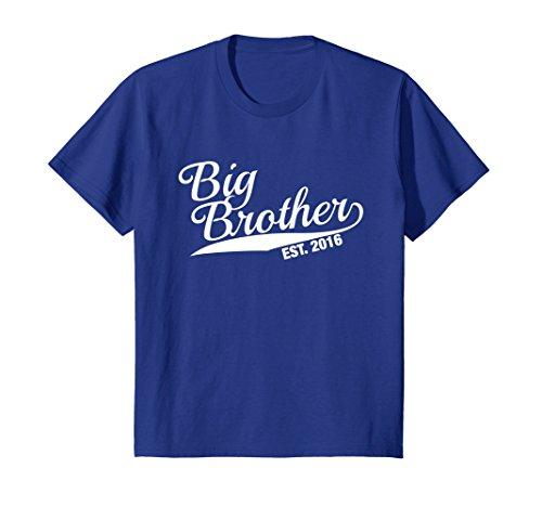 - Kids Big Bro Est 2016 T-Shirt. First Time Big Bro Funny Gift Idea 8 Royal Blue
